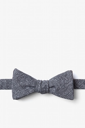 _Tioga Charcoal Skinny Bow Tie_