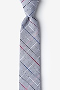 Charcoal Cotton Tom Skinny Tie