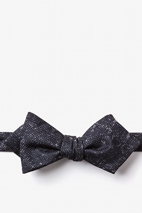 Wilsonville Charcoal Diamond Tip Bow Tie