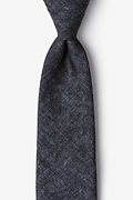 Charcoal Cotton Yuma Extra Long Tie
