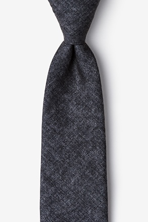 Yuma Charcoal Extra Long Tie