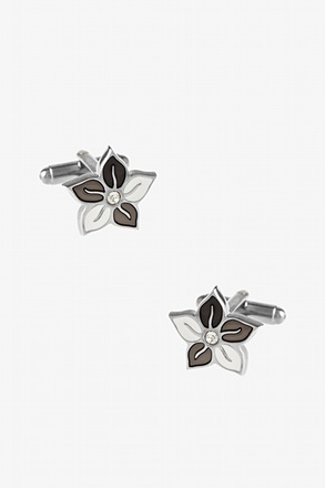 Colored Flower Cufflinks