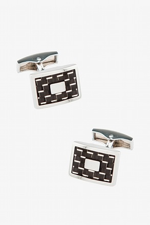 _Duke Rectangular Charcoal Cufflinks_