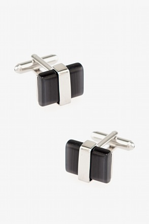 Executive Decisions Rectangular Charcoal Cufflinks
