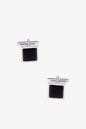 Minimalist square Charcoal Cufflinks