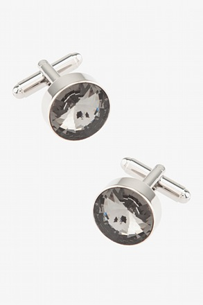 Oversized Gem Round Cufflinks