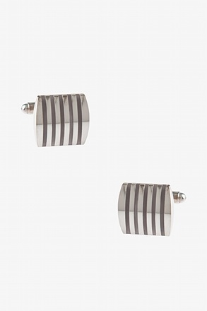 Solid Striped Rectangular Cufflinks