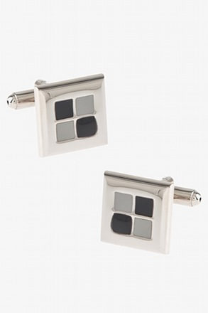 Through the Window Charcoal Cufflinks