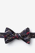 Charcoal Microfiber H. Pylori Butterfly Bow Tie