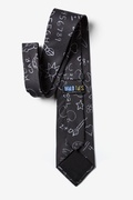 Teacher's Chalkboard Charcoal Tie