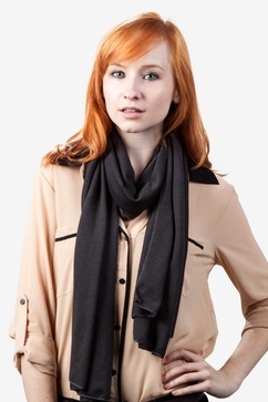 Dakota Solid Charcoal Scarf