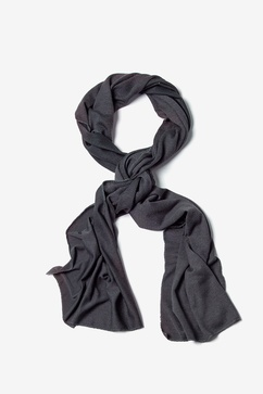 Men's Charcoal Dakota Solid Scarf