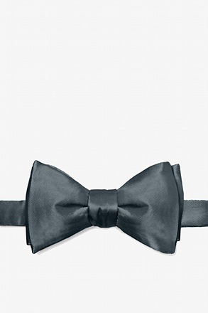 Charcoal Butterfly Bow Tie