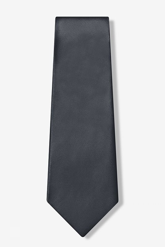 Charcoal Extra Long Tie Photo (1)