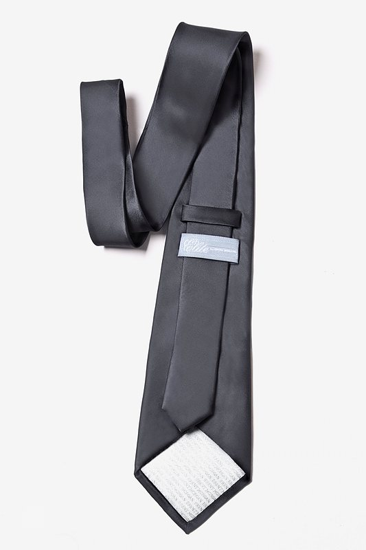 Charcoal Extra Long Tie Photo (2)