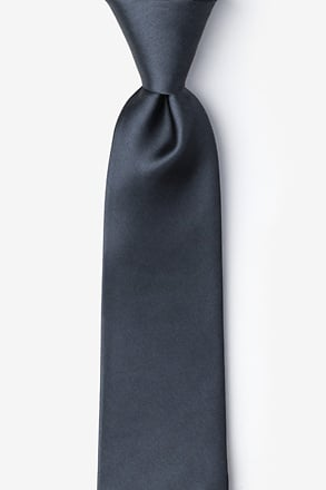 _Charcoal Extra Long Tie_