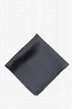 _Charcoal Pocket Square_