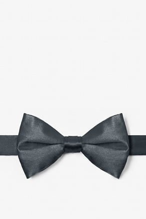 Charcoal Pre-Tied Bow Tie