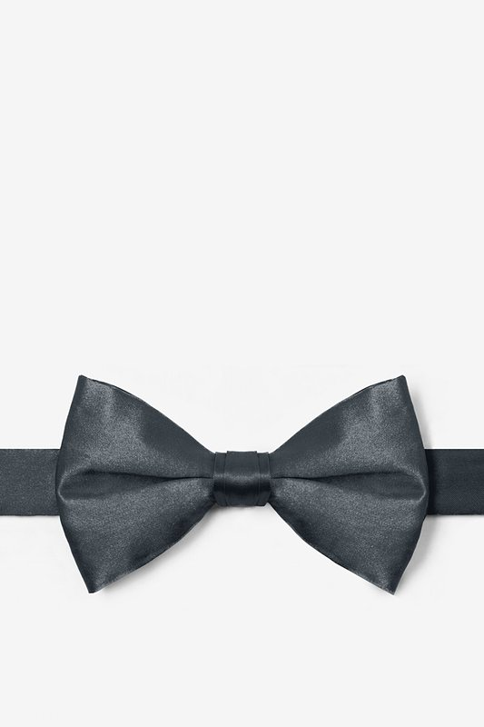Charcoal Pre-Tied Bow Tie Photo (0)