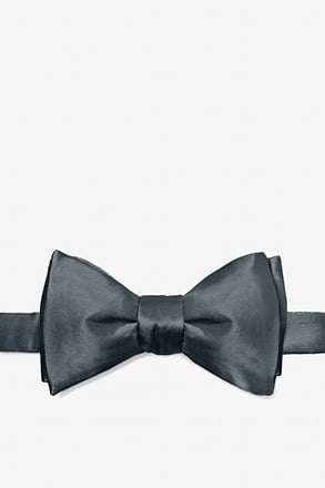 _Charcoal Self-Tie Bow Tie_