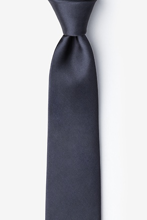 _Charcoal Tie For Boys_