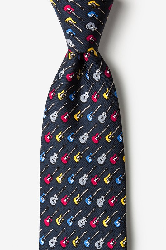 Guitar God Charcoal Extra Long Tie Photo (0)