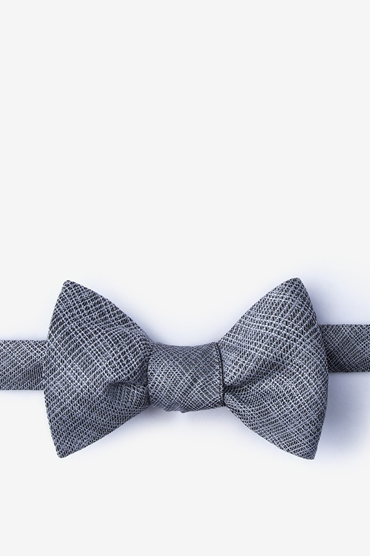 Java Charcoal Self-Tie Bow Tie Photo (0)