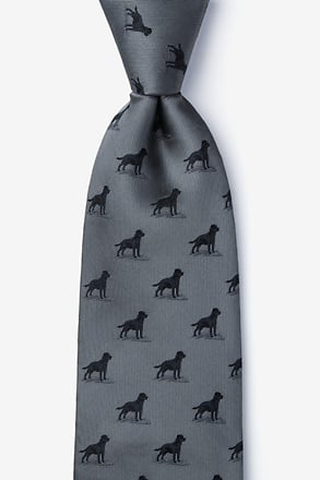 _Labrador-able Charcoal Tie_