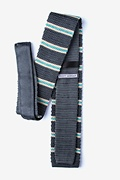 Maltese Stripe Charcoal Knit Tie Photo (1)