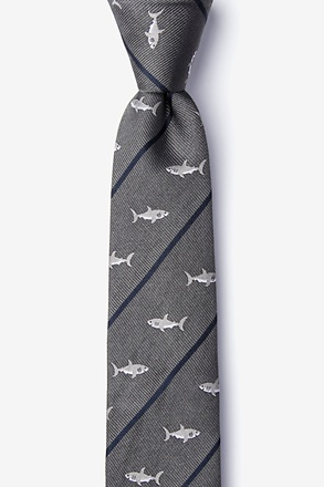 _Shark Infested Waters Skinny Tie_