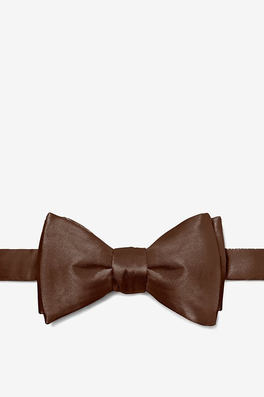 Chestnut Self-Tie Bow Tie Photo (0)