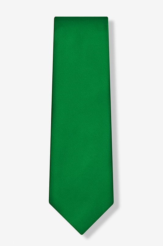 Christmas Green Extra Long Tie