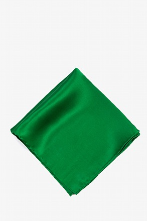 _Christmas Green Pocket Square_