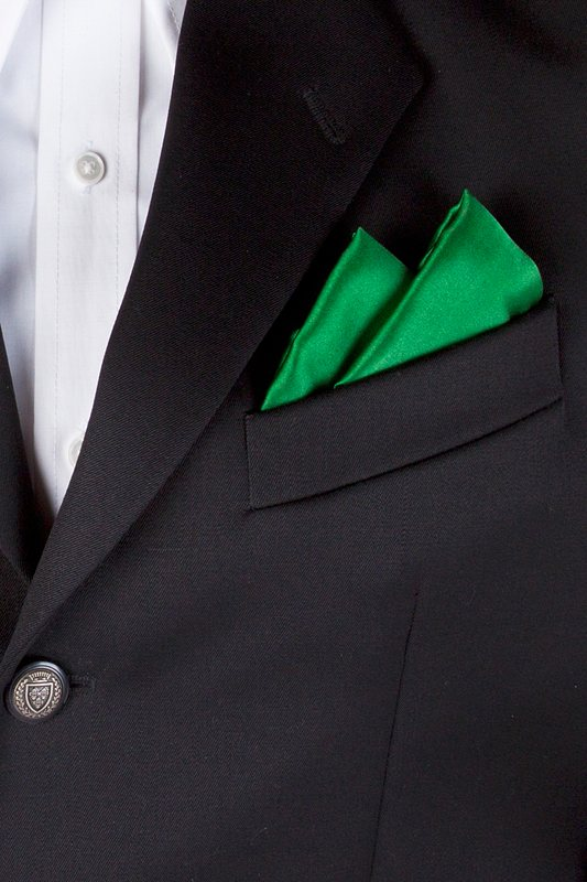 Christmas Green Pocket Square Photo (2)