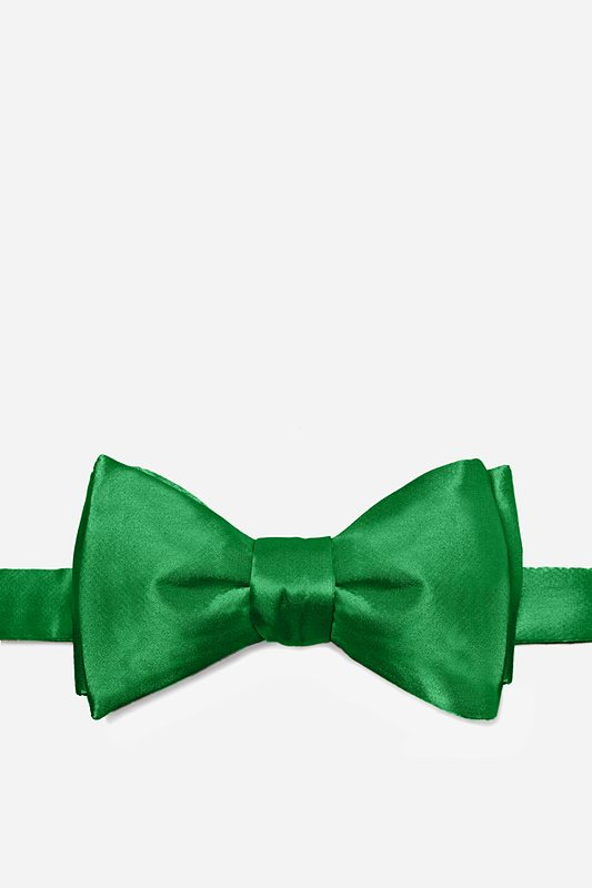 Christmas Green Self-Tie Bow Tie Photo (0)