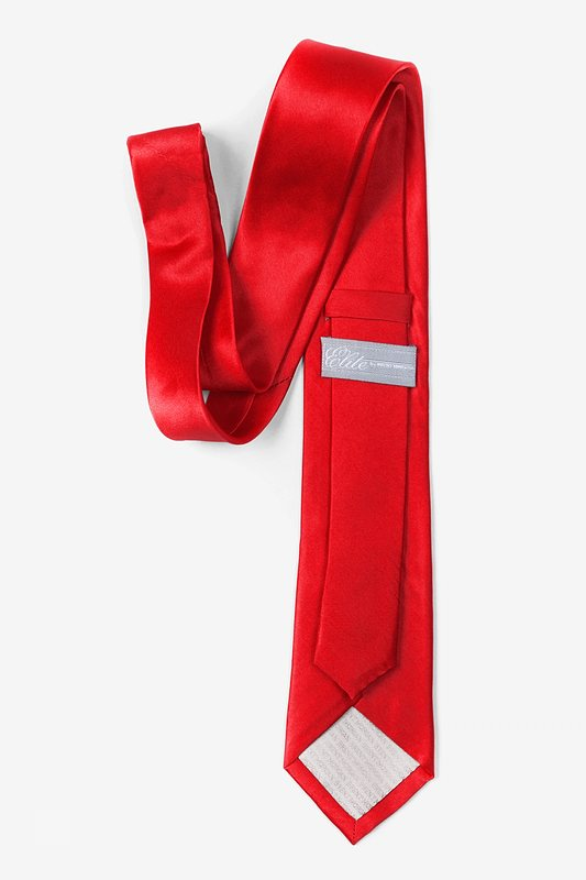"Christmas Red 2.25"" Skinny Tie"