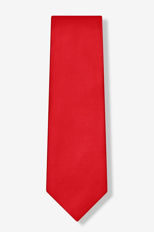 Christmas Red Extra Long Tie Photo (1)