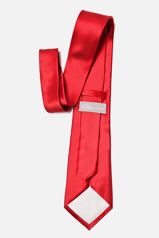 Christmas Red Extra Long Tie Photo (2)