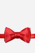 Christmas Red Silk Christmas Red Self-Tie Bow Tie