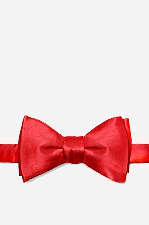 _Christmas Red Self-Tie Bow Tie_