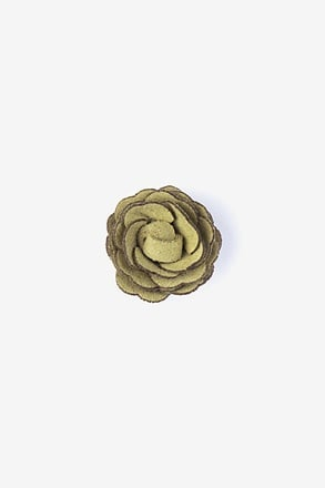 _Mini Flower Citrine Lapel Pin_