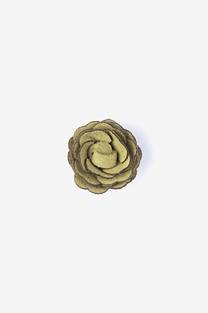 Mini Flower Citrine Lapel Pin