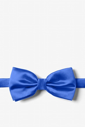 Classic Blue Pre-Tied Bow Tie