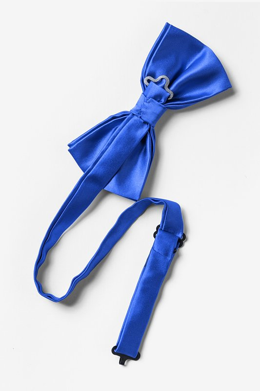 Classic Blue Pre-Tied Bow Tie Photo (1)