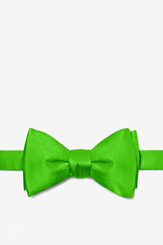 Classic Green Self-Tie Bow Tie Photo (0)