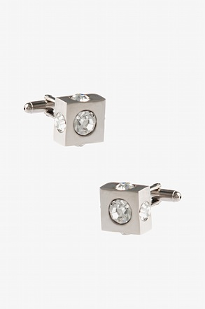 All Round Jewels Clear Cufflinks