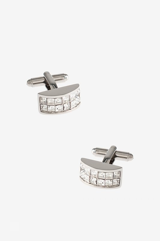 Bejeweled Arch Clear Cufflinks Photo (0)