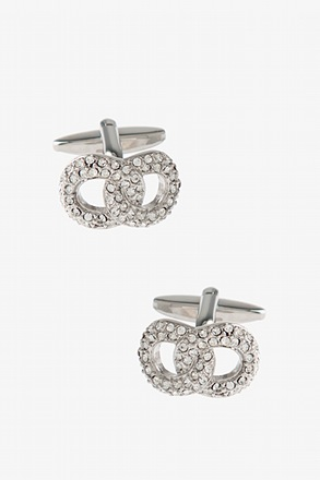 Blinged Out Overlap Clear Cufflinks