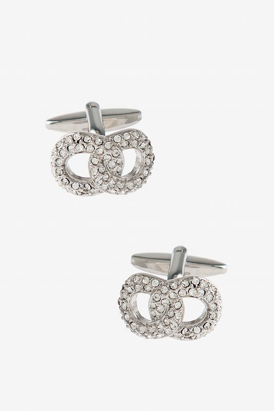 Blinged Out Overlap Clear Cufflinks Photo (0)