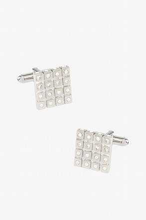 _Connect Four Grid Clear Cufflinks_